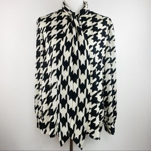Madderson London Houndstooth Print blouse